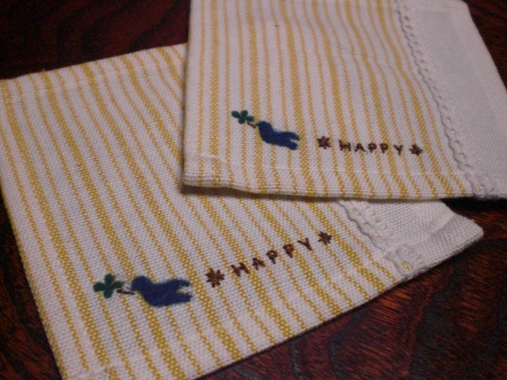 羊毛刺繍  コースター